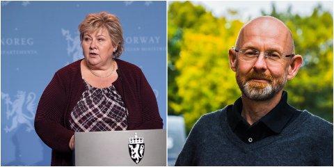 SMITTEN ØKER: Erna Solberg forteller under fredagens pressekonferanse at smitten øker blant ungdom i alder 13-19 år.