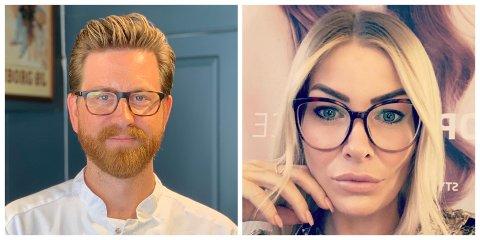 ÅPNER IGJEN: Fredrik Gullbrandsen ved Staut og Linn-Alexandria Kiesler ved Hair by Kiesler gleder seg veldig til å få åpne barber- og frisørsalongene sine igjen.