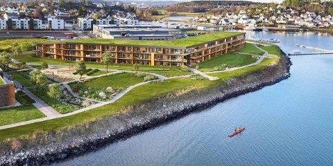 50 LEILIGHETER: I 2020 ble leilighetene i Innseilingen 2 overlevert til kjøperne, noe som førte til tidenes beste overskudd for Jarlsø Eiendom AS.