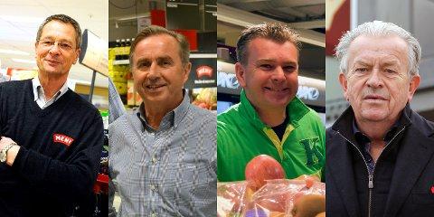 TOPPER: Sjur Gran (f.v.), Øistein Skjerven, Kenneth Normann Eriksen og Jan Magne Borgen har levd godt på suksessen i dagligvarebransjen.