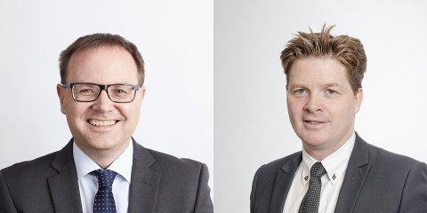 Kronikken er skrevet av senior advokat Oddmund Håkenstad (t.v.) og advokat/partner Lasse Jensen i Tenden Advokatfirma ANS.