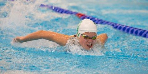 FINALEKLAR: Marie Hellberg Munthe svømmer finale på 200 butterfly søndag ettermiddag under junior NM i Bergen.
