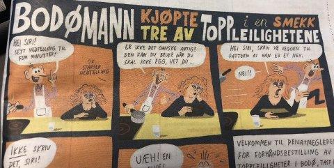 Utsnitt av tegneserien som ble publisert i lørdagens Dagbladet.