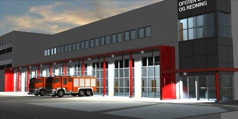 Nøkkelferdig: Sier bystyret i Narvik ja, skal Kubera levere en nøkkelferdig brannstasjon klar til bruk våren 2021. Ill: Holbø Consulting