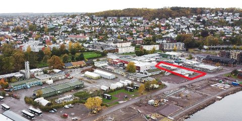 KREMTOMT: De seks eierne av dette kvartalet på Bankløkka er enige om å selge den fire mål store tomta samlet.