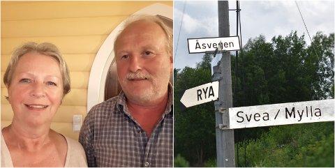 ÅSVEGEN: Visste du at du bor på én av Norges vanligste adresser, spør journalisten i telefonen. – Nei, det gjorde jeg ikke. Men når du sier det, har jeg sett Åsvegen flere steder i Norge, sier Rita Evelyn Fægri.