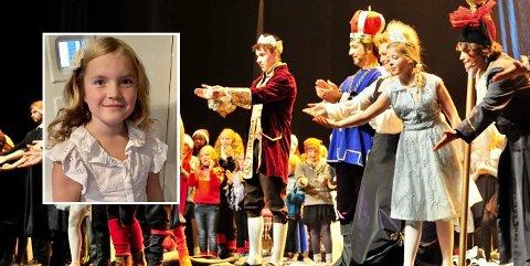 PRINSESSA: Madelen Eilertsen (innfelt) har fått rollen som Lilleprinsessa når Det Store Julespillet nå gjøre comeback på Harstad kulturhus.