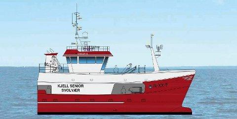 """NYBYGG: """"Kjell Senior"""" blir 18 meter lang, og 6,6 meter bred. Båten får et lasterom på 87 kubikk."""