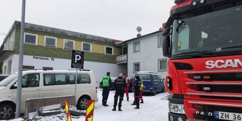 VED BRANNSTASJONEN: Branntilløpet var like ved brann- og politistasjonen i Tromsø.