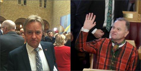 TAKKER FOR SEG: Olemic Thommessen (t.h.) fra Lillehammer er tydelig på at han vil gi seg som stortingsrepresentant i 2021. Tore Hagebakken fra Gjøvik mer enn antyder at han vil gjøre det samme.