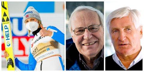 TIDENES STØRSTE: Maren Lundby fra Bøverbru og Kolbu IL hoppet seg inn i den edleste ligaen av norsk skihistorie, mener Arne Scheie og Bjørn Wirkola.