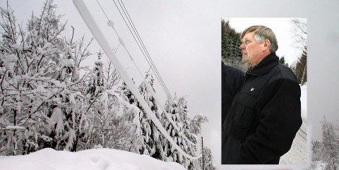 Det har vært dager med barskt vær i Farrisbygda, og Olav Vinterstå er ikke spesielt imponert over hvordan myndighetene behandler folk i kommunens utkantstrøk.
