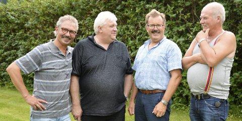 HIKS: Bandet fra 70-tallet gjenforenes etter 40 år. Bandet består av Kjell Bjørnø (t.v.), Helge Stiauren, Geir Kildal og Ivar Jakobsen. Foto: Lisa Ditlefsen
