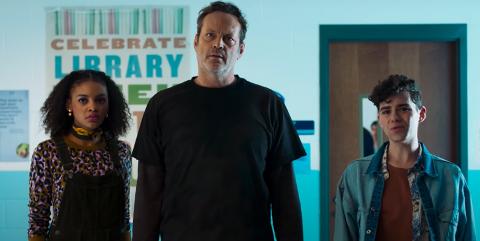 FREAKY: Seriemorderen, spilt av Vince Vaughn går inn i kroppen til Millie, som har klare og forståelige problemer med å overbevise vennene om at hun er sitt gamle jeg!