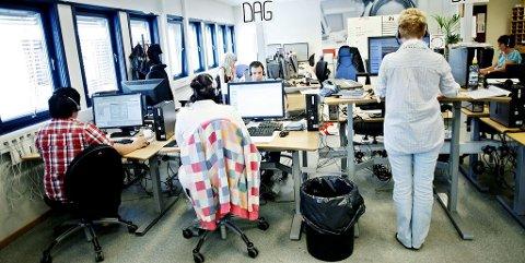 Ansatte ved callsentre opplever lite rom for privatliv på jobb (illustrasjonsfoto).