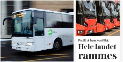 IKKE RAMMET: Selv om det fort kan framstå sånn, så er ikke Vestfold rammet av busstreiken enda. Men dersom partene ikke blir enige innen kort tid, kan også sjåførene i vårt fylke bli tatt ut.