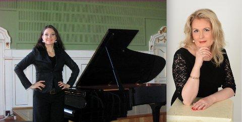 Åshild Spikkeland (t.v.) og Marit Kristine Risnes har produsert forestillingen «Grieg i ord og toner», som har premiere i Utstein kloster søndag 30. september. Den skal framføres fem andre steder i Rogaland til midten av november.
