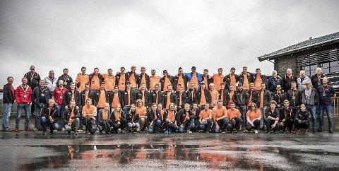 Spente og ivrige: 50 nye lærlinger i BetonmastHæhres anleggsdivisjon var samlet på Norefjell.