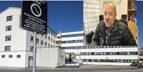 Lang venting: Trond Trondsen (innfelt) ble sendt til Hammerfest sykehus med ambulanse. Når han kom dit, ble han sendt videre til UNN.