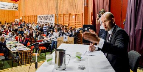 Stilt til veggs: Tidligere olje- og energiminister Tord Lien deltok på NUs landsmøte på Haugetun for to år siden.