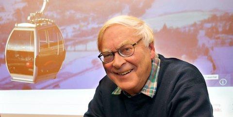 DØDE BRÅTT: Johs Owren, industrigründeren i Vingrom. De siste årene var han også engasjert i arbeidet  med å etablere en gondol gjennom byen.