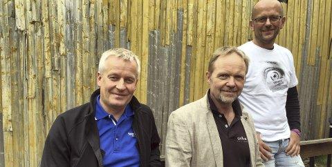 Sammen om kunsten: F.v.: Atle Edvardsen (Sparebank1 Nord-Norge), Stig-Ove Sivertsen og Espen Løkholm (Generator).