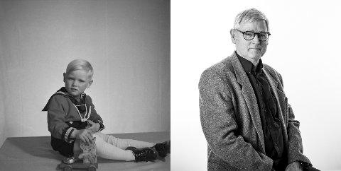 Svein Harald Haustreis fotografert som 3-åring i 1953 og som 70-åring i 2020.