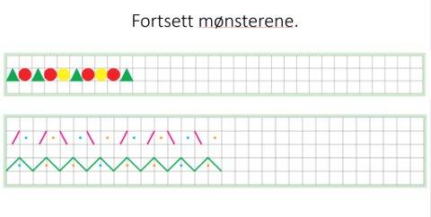 OPPGAVE 11: Fortsett mønstrene.
