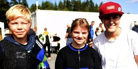 BLID NUMEDALSTRIO: Eirik Navelsaker (t.v.), Inga Marie Hanserud og Henning Hjallen imponerte i landsstevnet i skyting.FOTO: OLE JOHN HOSTVEDT