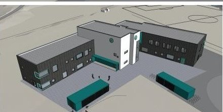NYE RAMBERG SKOLE: Skolebygget på Ramberg på 2333 kvadratmeter skal etter planen stå ferdig til skolestart 2022.