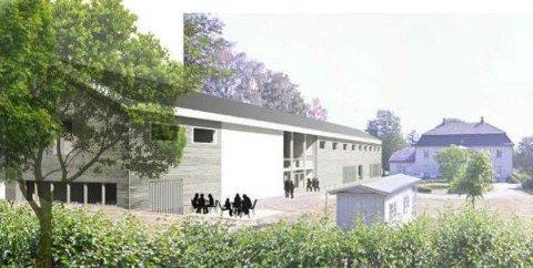 Slik ser arkitektfirmaet Tegn 3 for seg at en ny bygning på Torderød ka se ut. Tegningene ble presentert i 2015.