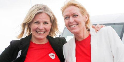 LINA OPP: Butikkeier Hege Lian og daglig leder Mona Gjerdrum. Foto: