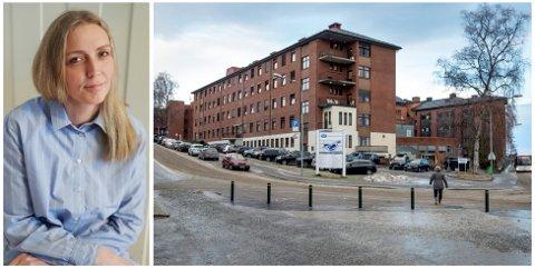 BEKYMRET: Tillitsvalgt Marte Gran Holte ved fødeavdelingen på Gjøvik sykehus sier hun er kjent med at flere vurderer å slutte nå som det er bestemt at avdelingen på Gjøvik stenges i sommerferien, og midlertidig flyttes til Lillehammer.