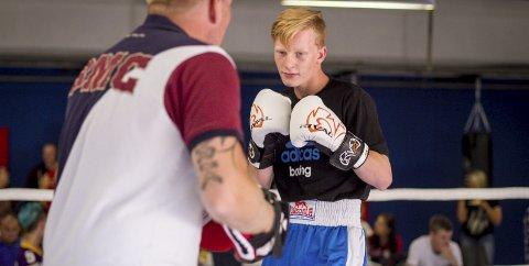 TO SEIERE: Martin Skogheim (15) fra Vinterbro og Armada bokseklubb viste gode takter i sitt første stevne for sesongen.ARKIVFOTO: ATle Larsson