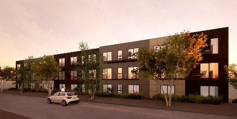 Det er estimert at leilighetene i Strandgata Borettslag vil være innflyttingsklare til våren 2023.