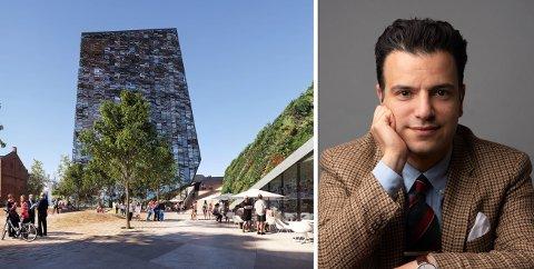 KRISTISKE: Saher Sourouri og arkitekturopprøret Norge er kritiske til høyhus i Hønefoss.