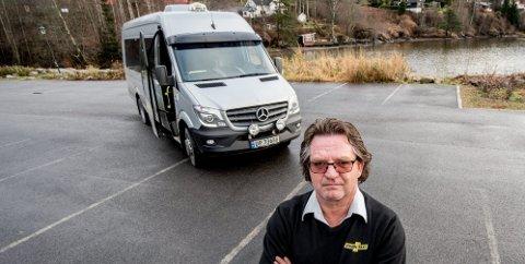 Fornøyd: Morten Sabel i Hurdal, talsmann for 32 drosjeeiere som tok ut stevning mot eierne i Tønsberg. Nå er det inngått et forlik, som innebærer at Øvre Romerike Taxi igjen er på lokale hender. De nye eierne overtar formelt sett først 1. juli. FOTO: privat