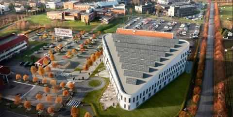 DELTA: Slik ruver den nye trekanten på Kjølnes. Tel-tek-tomta skal ryddes for å gi plass til et nytt bygg.