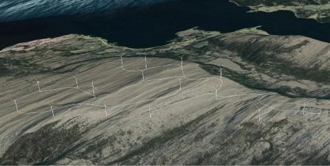 Skardsøya vindkraftverk.