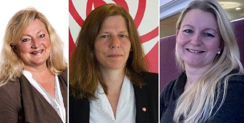 Anne Rygh Pedersen, Thordis Skallist Hovet og Anne Holm Moen, Arbeiderpartiet.