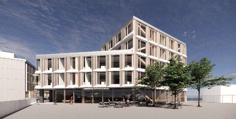 SKROTES: Slik kunne et nytt fylkets hus i Trondheim blitt seende ut, men nå skroter politikerne trolig planen om nybygg.