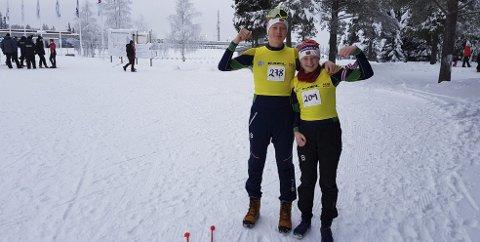 Søsknene Vilde Marie og Christian Thon Christensen  har gule ledertrøyer i Gullsportcupen J 13 og G 16 år.