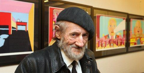 ETABLERT: Terje Brofos (74), med kunstnernavnet Pushwagner, har stilt ut flere ganger i Bærum Kunstforening, sist i 2014.