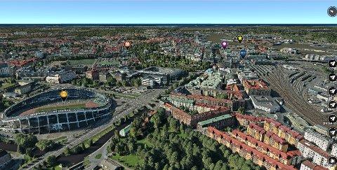 sandvika kart Budstikka   Sandvika firma samler Norge i 3D kart