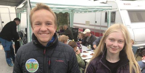 Eldre Rekrutt: Vetle Kosmo og Tuva Hugås er to av de unge, lovende i Sulitjelma skytterlag.