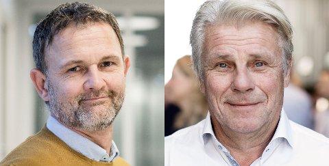 Svein Helge Eidissen (t.v.) blir ny regionleder for Sweco i Bodø. Cato Berg blir seniorrådgiver.