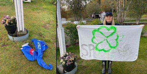 SINT OG FRUSTRERT: Eirin Horrigmoe er både sint og frustrert etter hendelse som skjedde natt til tirsdag på hennes og Bjørn Larsens private eiendom.
