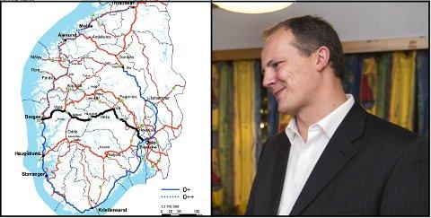 Ketil Solvik-Olsen skal gjennomføre en ny utredning av RV7 over Hardangervidda før regjeringen velger om de skal satse på RV7 eller RV52 over Hemsedal.