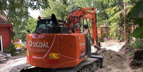 I ARBEID: Det ferske Sigdal-selskapet er allerede godt i gang med arbeidet.