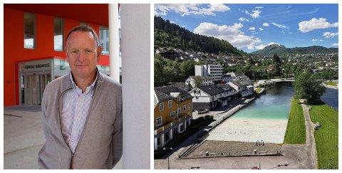 VENTAR: Kommunedirektør Ole John Østenstad seier det er for tidleg til å gi eit tydeleg signal på korleis kommunen vil stelle seg til bystranda.